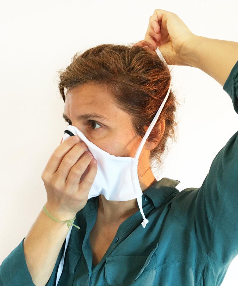 Bien positionner son masque barrière en tissu
